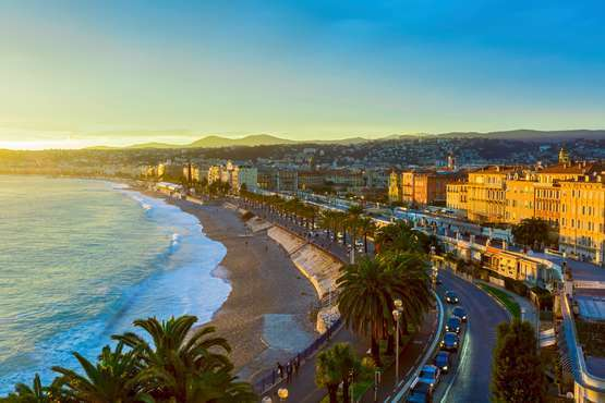 Die Promenade des Anglais an der Engelsbucht