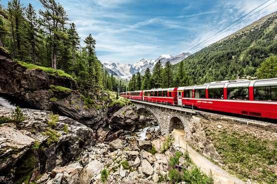 Bernina Express © Rhätische Bahn / Andrea Badrutt