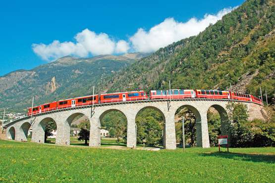 Bernina Express © Rhätische Bahn / Giorgio Murbach