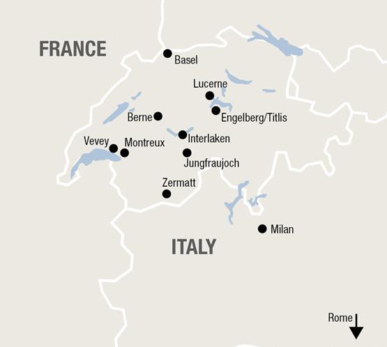 Pre-/Post Cruise tour Italy - Switzerland | railtour Nr.1 rail ... on
