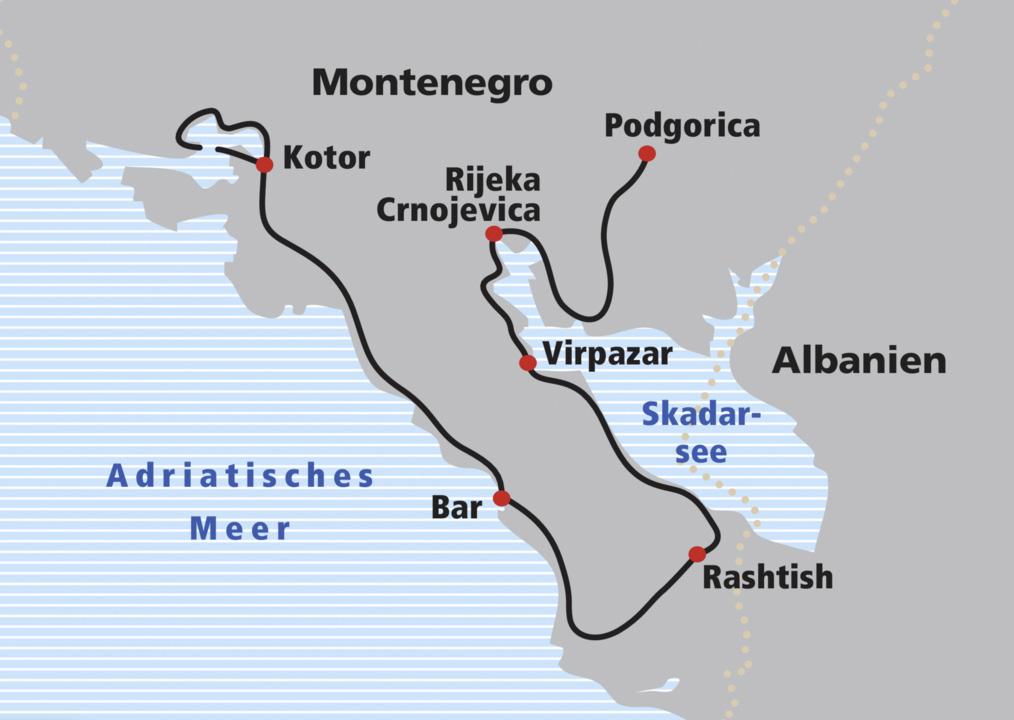 Bar Montenegro Karte.Veloreise Montenegro Railtour Der Schweizer