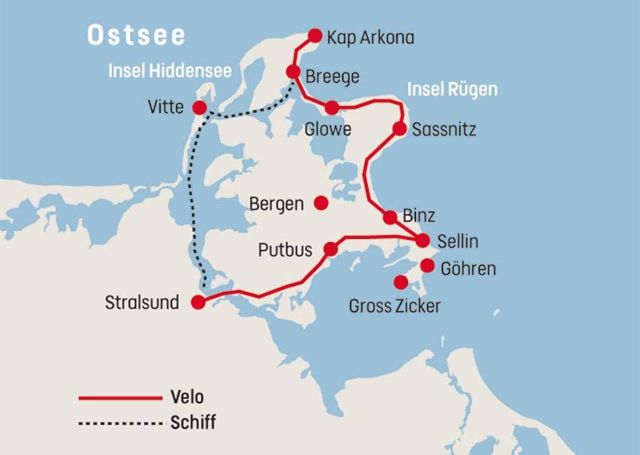 Ostsee Karte Rügen.Veloreise Rügen Impressionen Railtour Der Schweizer