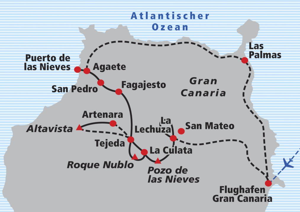 Gran Canaria Karte Flughafen.Wanderreise Gran Canaria Railtour Der Schweizer Reisespezialist