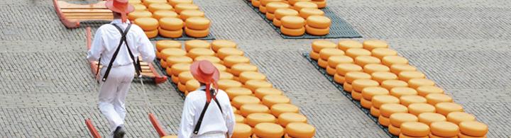 Visite du marché de fromage d'Alkmaar et du moulin de Zaanse Schans
