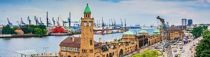 Zwischenstopp am Hamburger Hafen