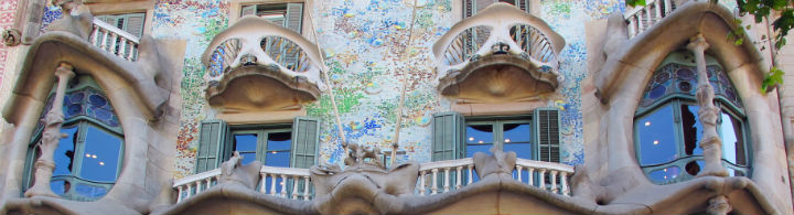 Die Casa Batlló von Antoni Gaudí