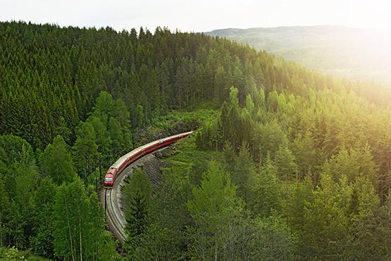 Norwegens berühmte Bergen-Bahn