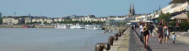 Die Ufer der Garonne