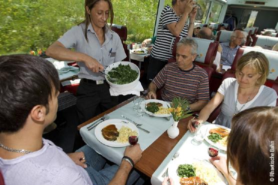 Essen im Glacier Express