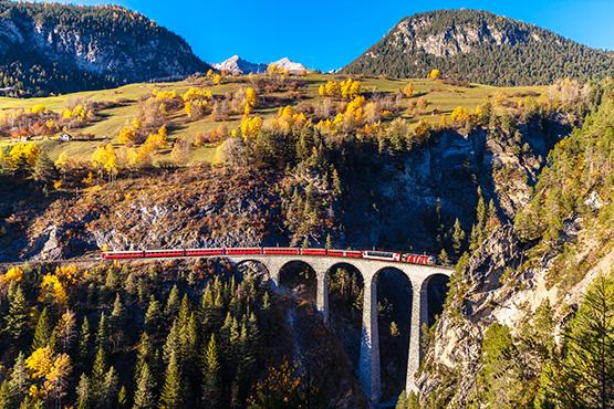 Rhätische Bahn Landwasser Viadukt