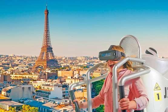 Virtueller Flug über Paris
