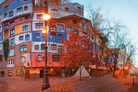 Museum of Hundertwasser at Kunst Haus Wien