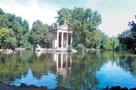 La galerie d'art et les jardins de la Villa Borghese