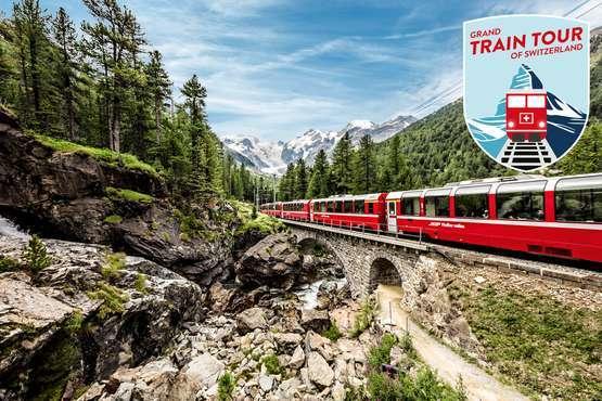 Grand Train Tour – Gletscher & Palmen
