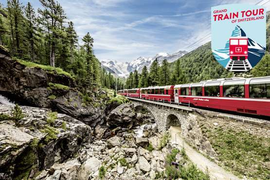 Grand Train Tour of Switzerland – Glaciers & Palm Trees