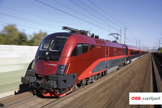 ÖBB railjet - der moderne Hochgeschwindigkeitszug.
