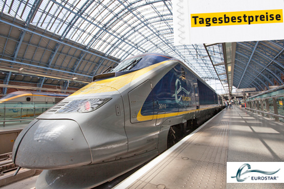 Eurostar - Bahnticket nach London.
