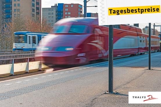Thalys - reisen Sie mit 320 km/h bequem von Stadtzentrum zu Stadtzentrum.