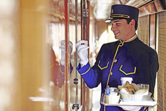 Der Belmond Venice Simplon-Orient-Express ist einer der luxuriösesten Züge der Welt.
